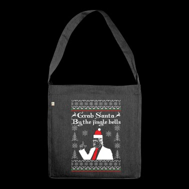 Grave Santa by the Jingle Bells - Shoulder Bag made from recycled material