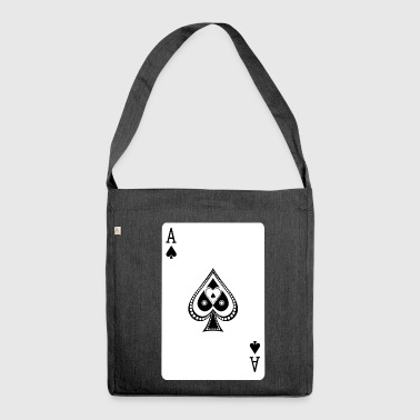Ace Of Spades - Schultertasche aus Recycling-Material