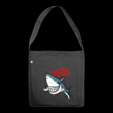 Great White Shark Scratch My Back - Schultertasche aus Recycling-Material