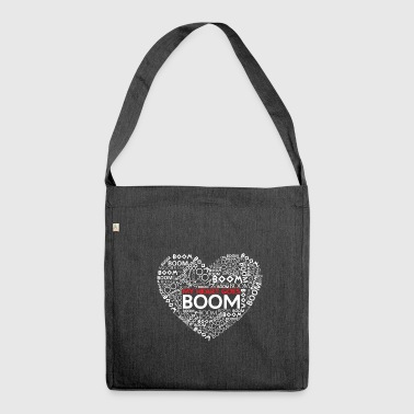 Heart love in love - Shoulder Bag made from recycled material