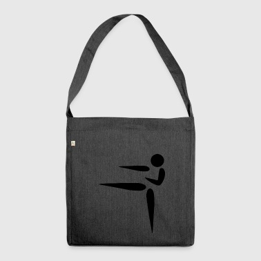 karate martial arts thai boxing ninja kickboxing28 - Shoulder Bag made from recycled material