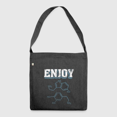 Science Enjoy Serotonin Dopamine Molecules Gift - Shoulder Bag made from recycled material