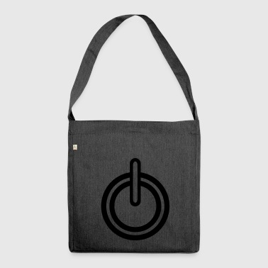 Power Strom Symbol - Schultertasche aus Recycling-Material