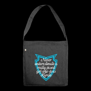 Pissed karate girl - Shoulder Bag made from recycled material