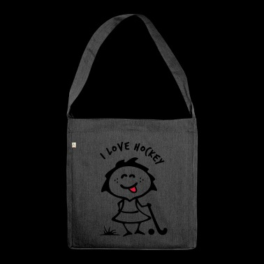 Hockey Girlie - Schultertasche aus Recycling-Material