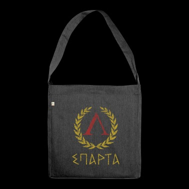 SPARTA IN GREEK - Shoulder Bag made from recycled material