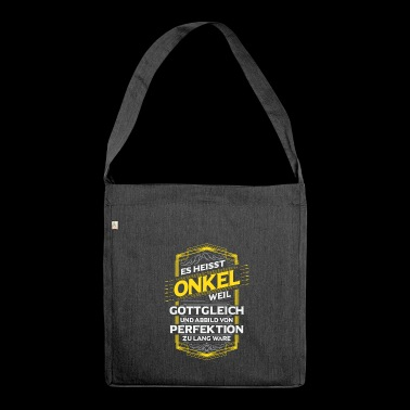 Onkel - Schultertasche aus Recycling-Material