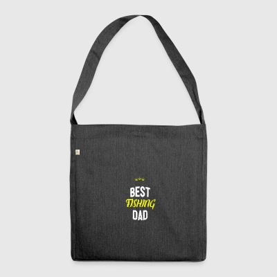 Distressed - BEST FISHING DAD - Shoulder Bag made from recycled material