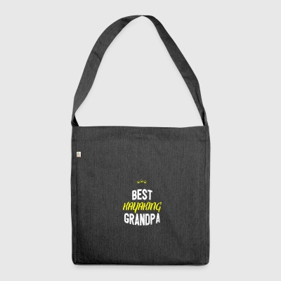 Distressed - BEST KAYAKING GRANDPA - Shoulder Bag made from recycled material