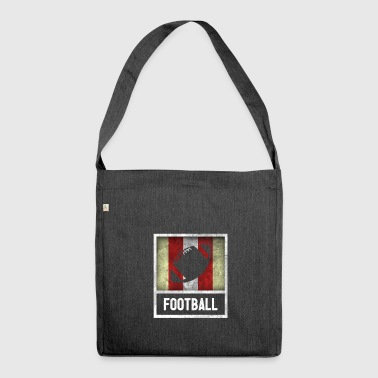 Vintage design for sport FOOTBALL - Skulderveske av resirkulert materiale