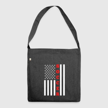 American Flag for Soccer Ball American - Shoulder Bag made from recycled material
