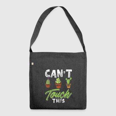 Funny Cactus Shirt Distressed - Schultertasche aus Recycling-Material