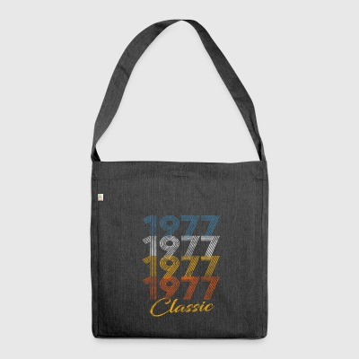 Vintage 1977- 40 years Birthday Birthday - Shoulder Bag made from recycled material