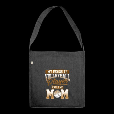 Volley Ball Player Mum Gift - Shoulder Bag made from recycled material