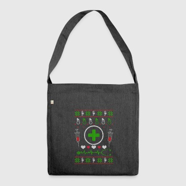 Nurse nursing profession Ugly Christmas - Shoulder Bag made from recycled material