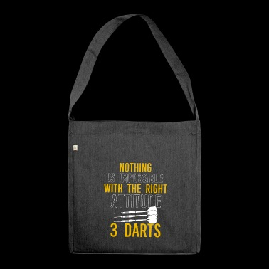 Darts Shirt · Darts · Darts · Darts · Gift - Shoulder Bag made from recycled material