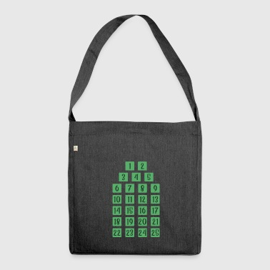 Advent 25 Calendar Christmas Countdown Christian - Shoulder Bag made from recycled material