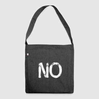 no anti no never demo statement revolution geg - Shoulder Bag made from recycled material