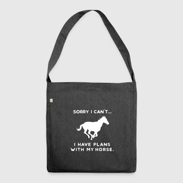 Horse horses pony riding horsewoman riding Ross - Shoulder Bag made from recycled material