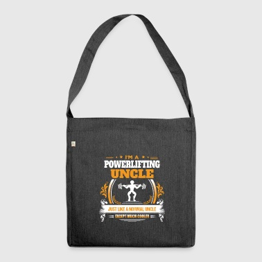Powerlifting Uncle Shirt Gift Idea - Shoulder Bag made from recycled material