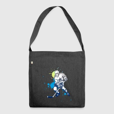 Ice hockey splash puck polar bear shooter tor angri - Shoulder Bag made from recycled material