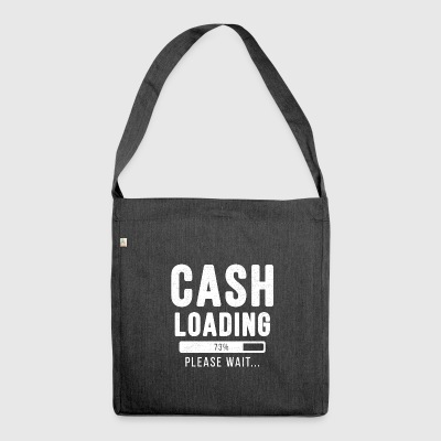 Cash loading... please wait! | Cash Shirt - Schultertasche aus Recycling-Material
