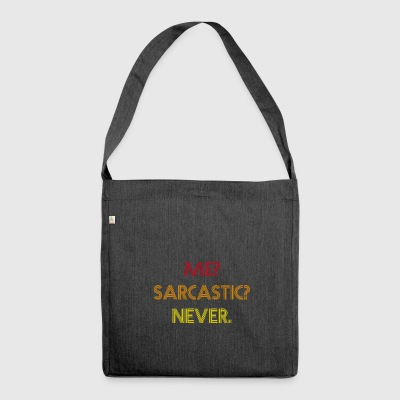 Sarcastic Retro Shirt - Shoulder Bag made from recycled material