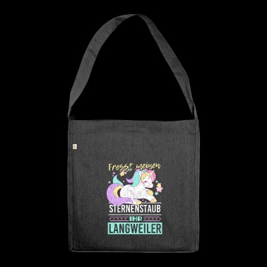 Unicorn gift idea idea idea - Shoulder Bag made from recycled material