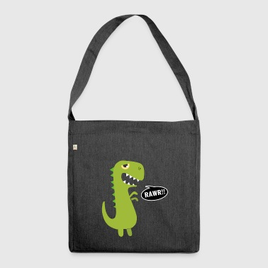 Dino says rawr gift dinosaur T Rex kids - Shoulder Bag made from recycled material