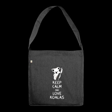 Koala Keep Calm Love Koalas Australia Hang Chilling - Shoulder Bag made from recycled material
