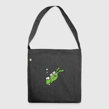 Frog Diver Print Gift T-Shirt Funny Cool - Shoulder Bag made from recycled material