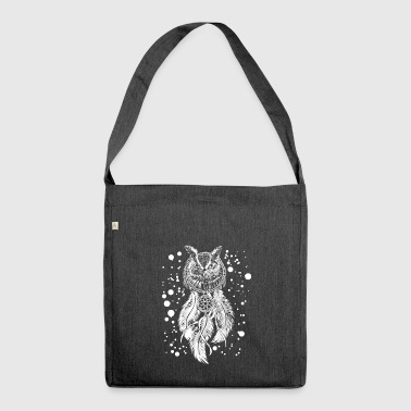 Owl Dream Catcher T-Shirt - Cool Nocturnal Birds - Shoulder Bag made from recycled material