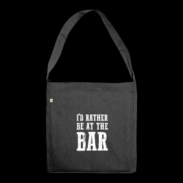 At The Bar gift for Bar Enthusiasts - Shoulder Bag made from recycled material