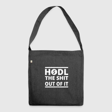 Bitcoin btc hodl currency wallet START krypto cryp - Schultertasche aus Recycling-Material