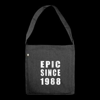 Epic Since 1988 - 30th Birthday Shirt - 30er Shirt - Schultertasche aus Recycling-Material