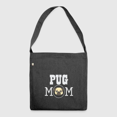 Pug Mom | Pug gift - Shoulder Bag made from recycled material