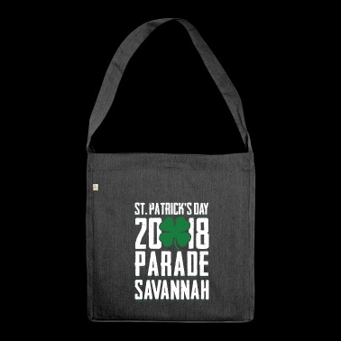 St. Patricks Tag 2018 Parade Savannah Clover - Schultertasche aus Recycling-Material