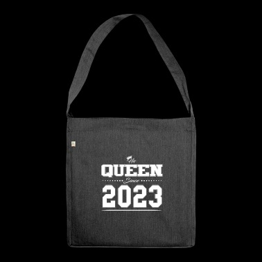 His Queen since partner Valentine's Day couple 2023 - Shoulder Bag made from recycled material