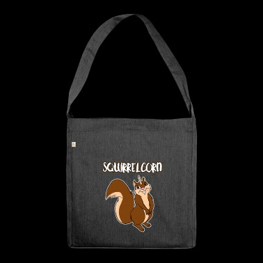 Squirrelcorn Funny Chipmunks Ecureuil Unicorn Pun - Sac bandoulière 100 % recyclé