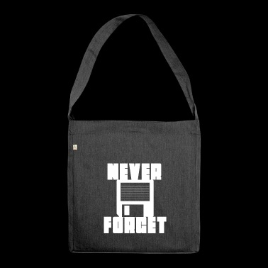 floppy disk never forget - Shoulder Bag made from recycled material