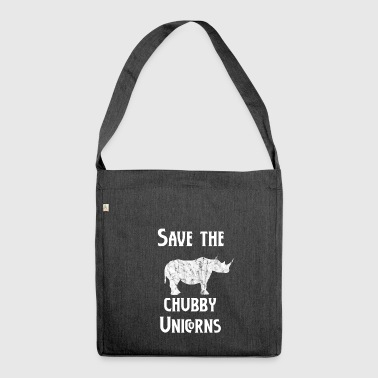 Save the chubby unicorns - Shoulder Bag made from recycled material