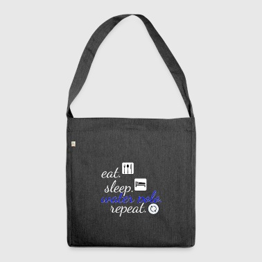 Eat sleep repeat water polo - Shoulder Bag made from recycled material