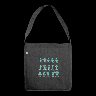Shirt for mathematicians and teachers - Shoulder Bag made from recycled material