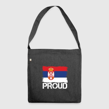 Pride flag flag home origin Serbia png - Shoulder Bag made from recycled material