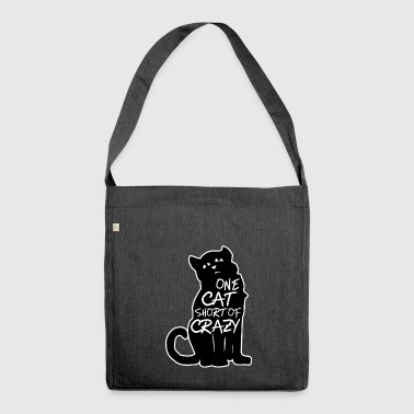 A cat just before Crazy - Shoulder Bag made from recycled material