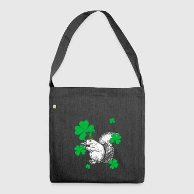 Regalo di giorno del Squirrel San Patrizio - Borsa in materiale riciclato