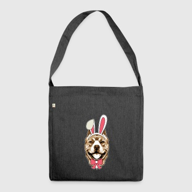 Pit Bull Terrier Easter Bunny Happy Easter Gift - Shoulder Bag made from recycled material