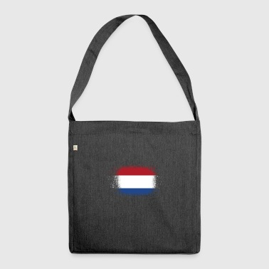 Spray logo klaue flagge home Niederlande png - Schultertasche aus Recycling-Material