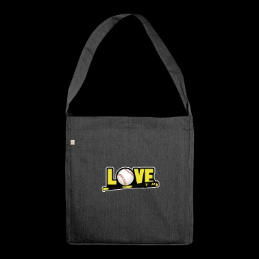 love softball - Shoulder Bag made from recycled material