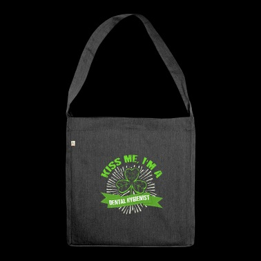Kiss Me Dental Hygienist St Patrick's Day - Shoulder Bag made from recycled material